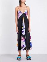 Christopher Kane Pansy-print silk dress