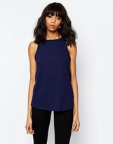 Asos Linen Look Sleeveless Tank