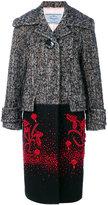 Prada embellished contrast coat