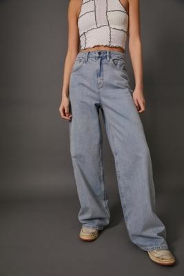 BDG Light Vintage High-Waisted Puddle Jeans - Blue 24W 30L at Urban Outfitters