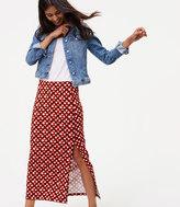 LOFT Petite Amaryllis Seamed Maxi Skirt