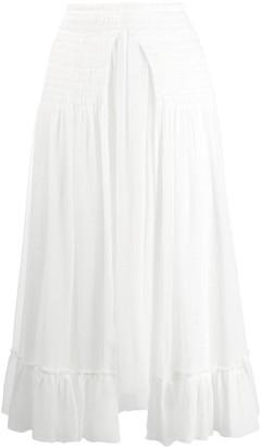 Chloé Smocked Waist Skirt
