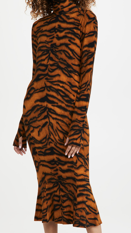 Thumbnail for your product : Norma Kamali Long Sleeve Turtle Fishtail Dress