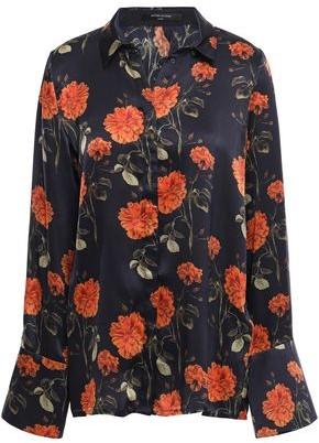 Mother of Pearl Vera Floral-print Silk-satin Shirt