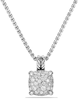 David Yurman Chatelaine Pendant Necklace with Diamonds in Sterling Silver