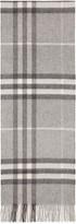Burberry Grey Cashmere Giant Icon Scarf