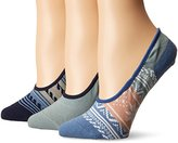 Sperry Women's 3 Pack Canoe No Show Liner Socks