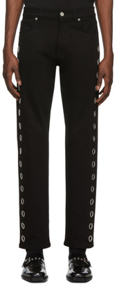 Versace Black Ring Jeans