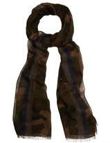 Valentino Camouflage-print Voile Scarf