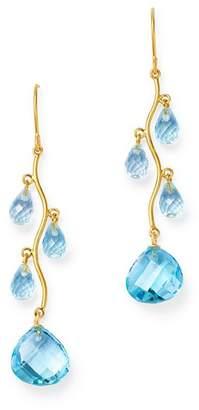 Bloomingdale's Blue Topaz Chandelier Earrings in 14K Yellow Gold - 100% Exclusive