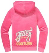 Juicy Couture Relaxed Jacket in Juicy Script Velour