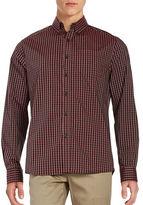 Kenneth Cole New York Gingham Check Print Cotton Shirt