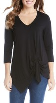 Karen Kane Women's Asymmetrical Side Tie Top