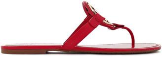 Tory Burch Logo-embellished Leather Slides