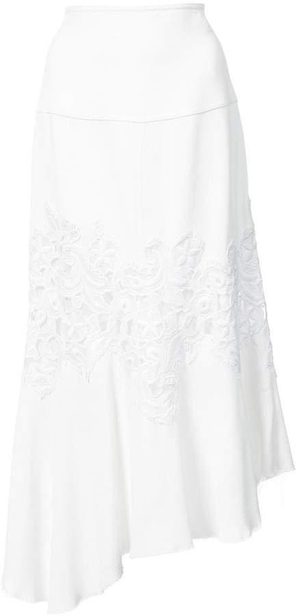 Derek Lam Midi Skirt with Lace Detail
