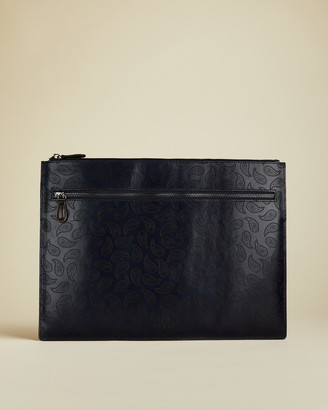 Ted Baker EKCLE Leather paisley document holder