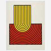 Harold Krisel Ripple Form Yellow Red