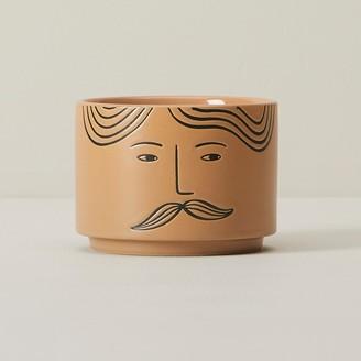 Indigo Scents Line-Drawn Face Large Candle Samuel