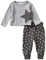 Mud Pie Baby Boys Newborn-18 Months Star-Applique Shirt & Star Printed Pants