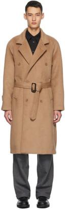 Winnie New York Beige Notch Lapel Overcoat