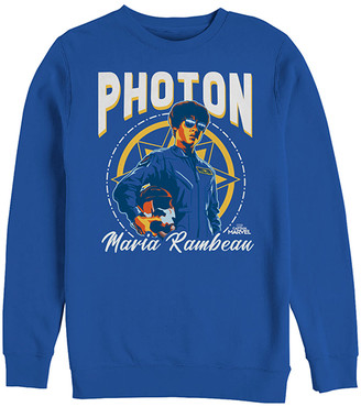 Fifth Sun Men's Pullover Sweaters ROYAL - Captain Marvel Royal Blue Photon Pullover - Men