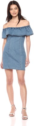 MinkPink Women's Malibu Soft Ruffle Mini Dress