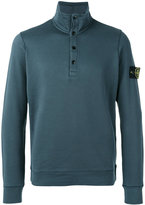 Stone Island button collar sweatshirt - men - Cotton - XL