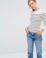 Warehouse Bretton Stripe Crew Sweater