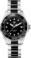 Tag Heuer WAY131C.BA0913 aquaracer stainless steel ceramic and diamond watch