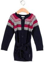 Armani Junior Girls' Striped Belted Cardigan