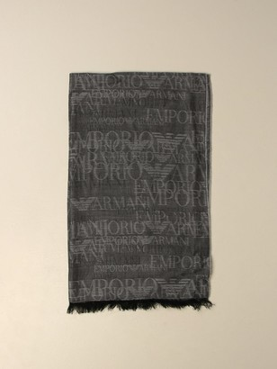 Emporio Armani Scarf Wool And Modal Scarf With Logo
