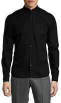 The Kooples Solid Mandarin Collar Sportshirt