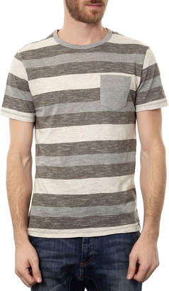 Px Clothing Men's Colorblock Stripe Short-Sleeve Tee w/ Patch Pocket