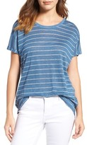 Women's Two By Vince Camuto Stripe Linen Tee