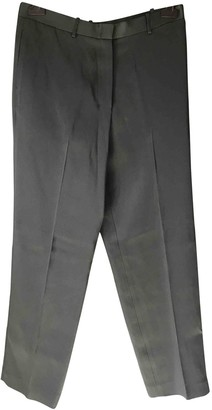 The Row Green Silk Trousers