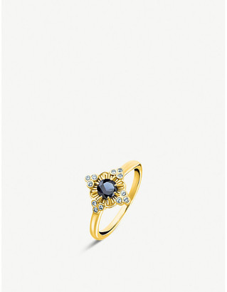 Thomas Sabo Kingdom of Dreams 18ct yellow gold plated silver Flower ring