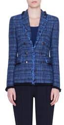 Akris Punto Fringe Tweed Blazer