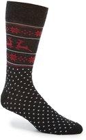 Daniel Cremieux Reindeer Fairisle Crew Socks