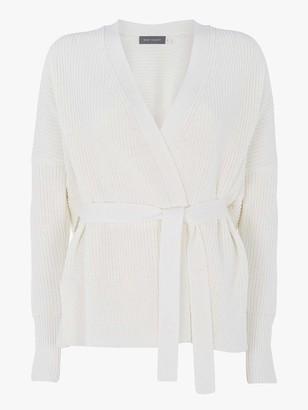 Mint Velvet Chunky Tie Front Cardigan - Cream