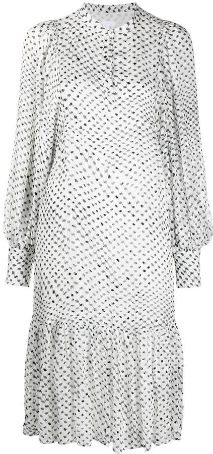Lala Berlin Patterned Ruffle Hem Dress