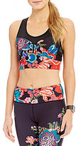Nanette Lepore Play Active Floral Tapestry Racerback Compression Crop Top