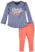 Under Armour Baby Girls Shine Bright Two-Piece Heathered Top and Jogger Pants Set