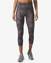 adidas Floral-Print ClimaLite Cropped Compression Leggings