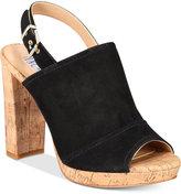 INC International Concepts Women's Tangia Platform Block-Heel Sandals, Created for Macy's Women's Shoes