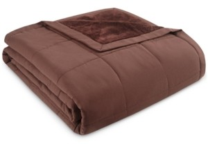 Martha Stewart Collection Down Alternative Reverse to Plush Full/Queen Blanket, Created for Macy's