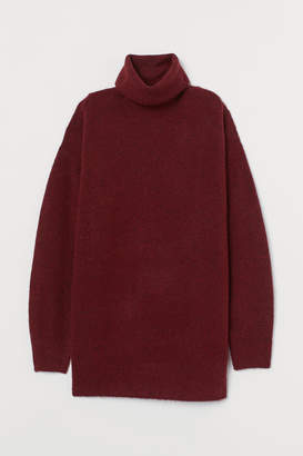 H&M Oversized Turtleneck Sweater - Red