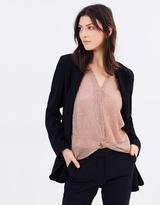 Mng Crepe Suit Jacket