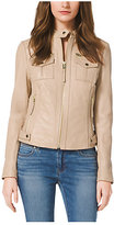 Michael Kors Zip-Front Leather Jacket