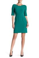 Tahari Notched Neck Sheath Dress
