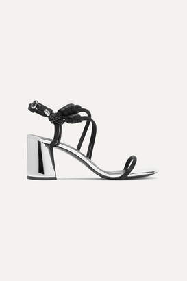 3.1 Phillip Lim Drum Knotted Patent-leather And Satin Sandals - Black